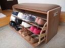 靴箱と椅子を1つにして場所を取らずに便利に!