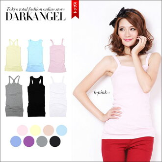 100% Cotton with soft comfortable length 78 cm & 68 cm long tank top dress tasty long tank top staple inner plain cotton ladies tops ■ media ■ half price SALE 78% off