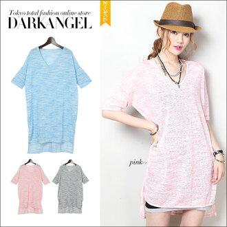 Wearing loincloth boasts a height of power! Dolman T shatswanpeace / ladies T shirt dress 5-sleeve half sleeve cut & sew loose fitting Dolman DarkAngel / Dark Angel