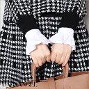 【送料無料】手元を彩る♪フリルシャツ付け袖 サイズ調整可能 ホワイト デニム カフス アクセサリー ブレスレット ブラウス レディース【冬春 新作】【2017年1月新作】DarkAngel/ダークエンジェル_03co