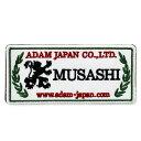 ビリヤードアクセサリー【限定商品】 ADAM MUSASHI PATCH (White)|アダム ムサシ ワッペン(白)