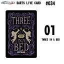 ダーツカード【DARTSLIVE CARD 新シリーズ #034】DARTS LIVE CARD 01 Three in a Bed(ダーツライブカード)