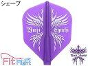 【ダーツ フライト、ダーツフライト】COSMO DARTS Fitフライト/えぐちょシェープ[フィットフライト]