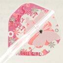 ダーツ フライト BULL GIRL 【ピンク】× FitFlightスタンダード AIR(エアー) (メール便OK/3トリ)