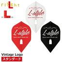 ダーツ フライト Flight-L L-styleシリーズ Vintage Logo スタンダード RED MIX エルスタイル フライトL ヴィンテージロゴ L1c(メール便OK/3トリ)