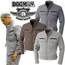 ドッグマン DOGMAN 長袖ブルゾン 8127 ジャケット 千鳥格子柄ブルゾン ジャンバー スタンドカラー 中国産業 8027シリーズ