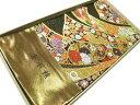 【送料無料】新品!正絹西陣袋帯◆豪華な唐織錦熨斗目花文様◆hu480