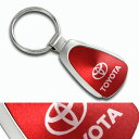ショッピングBit'z レッドクローム キーホルダー トヨタ プリウス アクア ヴィッツ[人気商品][アメリカ直輸入][USトヨタ][プレゼントにおすすめ]
