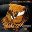 【あす楽】■lb134■本革 ショルダーバッグ 牛ハラコ 豚革スエード フリンジメッセンジャーバッグ 斜め掛け レディース [ 牛革 | メンズ | バイカー | かばん | 鞄 | レザーバッグ ]【楽ギフ_包装】