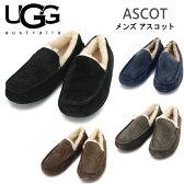 【UGG アグ】 即納 アスコット ASCOT シープスキンシューズ モカシン スリッポン メンズ フラット