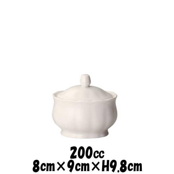 カナリーラインシュガー白シュガーポット砂糖入れカフェ食器陶器磁器おしゃれな業務用食器