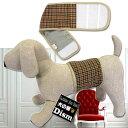 犬服 マナーベルト タータンチェック・ブラウン(超小型犬〜中型犬用)【メール便なら送料無料】マナーバンド おしゃれ犬服