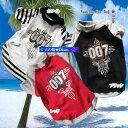 犬服 十字架柄Tシャツ☆All For One 007(超小型犬)【犬の服2点購入でメール便送料無料】ドッグウェア