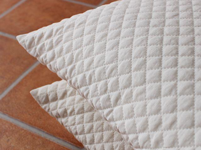リネンキルティング ( 麻 100% ) クッションカバー 約 45×45 cm 【 リーノ 】