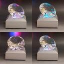 クリスタル ダイヤモンド 6cm LEDライトスタンドセット結婚祝い、誕生日などプレゼントに最適♪ 記念品 創立記念 還暦 創立記念 還暦 お祝い 定年 ノベルティ ギフト プレゼント 創業記念 表彰【こちらは彫刻なしの商品になります】
