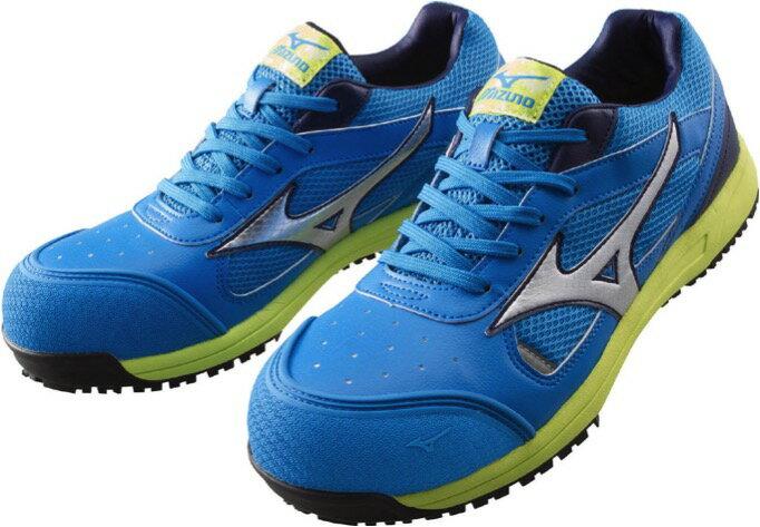 MIZUNOミズノ安全靴 C1GA1600 ワーキングシューズオールマイティブルー×シルバー×ネイビー