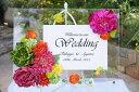 ウェルカムボード アート 結婚式 ウェディング ガーデン 披露宴 店舗看板 イベント 結婚祝い