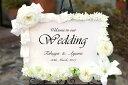 結婚式ウェルカムボード 花 ユリ ウェディング 結婚式 ブライダル イベント 店舗看板 結婚祝い