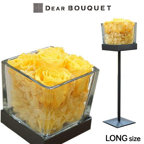 プリザーブドフラワー ガラスアレンジ 燭台 スタ...の商品画像