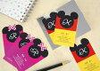シルエット名刺 ディズニー 60枚【ディアカーズ】【Disneyzone】