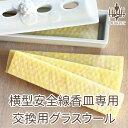 横型安全線香皿専用のグラスウールのみのお届けです。【横型安全線香皿に】【ペット仏具】 グラスウール 黄色 1枚入り
