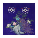 【代引き・同梱不可】トレシー 加賀のお国染めシリーズ 花嫁のれん柄 19×19cm A1919P-ERIHANA P543 牡丹に孔雀クリーニングクロス クリーナー めがね拭き