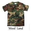 ショッピング迷彩 カモフラージュ Tシャツ( 迷彩 Tシャツ) JT048YN ウッドランド Sサイズ【日時指定不可】