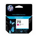 (まとめ) HP711 インクカートリッジ マゼンタ 29ml 染料系 CZ131A 1個 【×3セット】【日時指定不可】