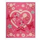 デスクカーペット 女の子 エハート柄 『キャリー ツー』 ピンク 133×170cm【日時指定不可】