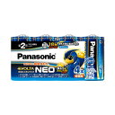 (まとめ) パナソニック アルカリ乾電池EVOLTAネオ 単2形 LR14NJ/4SW 1パック(4本) 【×10セット】【日時指定不可】