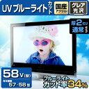 UV ブルーライトカット 液晶テレビ保護パネル 58型 【2...