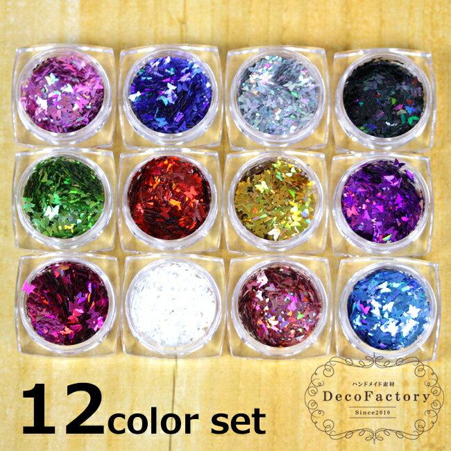 12色セット バタフライ ホログラム