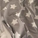 生地・布≪ Cocoa gray star ≫コットン/幅110cmデコレクションズオリジナル生地・布【10cm単位販売】【メール便OK】【星】【ポップ】【ベー...