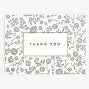 メッセージカード 07 Gray - thank you【グリーティング】【ラッピング】【ミニサイズ】ギフト|贈り物|お祝い|誕生日|バースデー|メモ|結婚|ウェディング|クリスマス|バレンタイン|記念日【ゆうパケット対応】