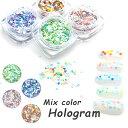 高品質丸型ホログラム サイズ・カラーがMIX 奥行きのある雰囲気に 全4色 薄型でジェルやアクリルの...