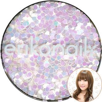 黒崎 에리코 쥬얼리 컬렉션 (ERI-181) 육각 파스텔 펄 화이트 1.0 mm erikonail (여 리고 그림)