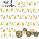 サンドアイソセリーズ(ゴールド/シルバー)10個入り 3サイズ 二等辺三角形 ネイルパーツ ジェルネイル ネイル