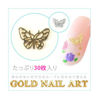 2 Colors of the butterfly gold nail art gold and silver!