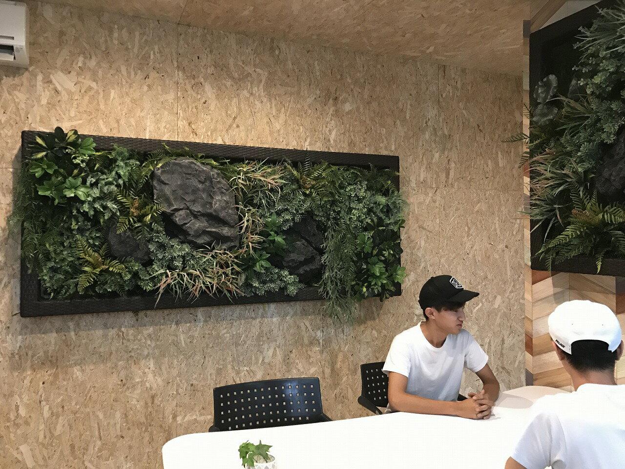 RattanFrame(大)【デコプラ】 壁面緑化 造花 ウォールグリーン 壁面 緑化 DIY パネル アート 壁付け 壁掛け 飾り 掲示板 インテリア おしゃれ きれい 簡単 フェイク 室内 観葉 植物 装飾 ボード 壁飾り 店舗 カフェ 喫茶店 美容院