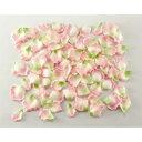 【光触媒】ローズペタル(約120枚パック)(ピンクグリーン)【バラの造花・アートフラワー】