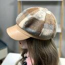 ショッピング大判 【即納あり】キャスケット 帽子 チェック柄 エコレザー ベージュ ブラック ダンス 衣装 ヒップホップ コスチューム 韓国ファッション 大きいサイズ 個性的 服 原宿系