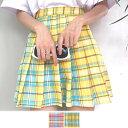【即納あり】マドラスチェック柄がヘルシーなプリーツミニスカート 原宿系 ファッション レディース ゆめかわいい 服 奇抜 派手 個性的 ダンス 衣装 コスチューム ヒップホップ 韓国 大きいサイズ 180530