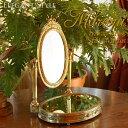 Marconi マルコーニ アンティークゴールドブラス スタンドミラー 卓上鏡 真鍮 銅 ブロンズ クラシックインテリア 金