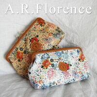 イタリア・A.F.Florence(A.F.フローレンス)/ フラワー ダブルがま口(ポーチ&財布)
