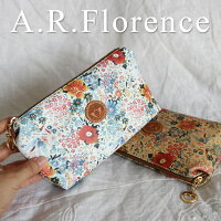 イタリア・A.F.Florence(A.F.フローレンス)/ フラワー レザーポーチ
