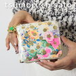 ツモリチサト 長財布 キャリー tsumori chisato CARRY 花柄とドットプリントが可愛いネコプレート付き長財布