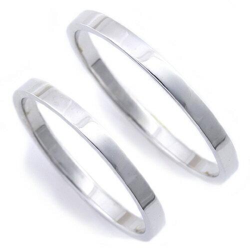 マリッジリング「スクエア」【送料無料】ペア販売  PT950 プラチナリング 結婚指輪
