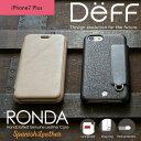 【予約受付中】iPhone7 Plus 本革レザーケース フリップタイプ 手帳型 RONDA Spanish Leather Case for iPhone 7 Plus Apple docomo au Softbank 【送料無料】