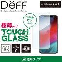 iPhone Xs / X ガラスフィルム 二次硬化処理 でガラス強化し割れにくくした TOUGH GLASS ケースと干渉しないフチのないフレームレスタイプ