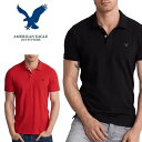 大きいサイズ メンズ アメリカンイーグル AMERICAN EAGLE 半袖 ワンポイント刺繍 ポロシャツ XL XXL XXXL AE-037-A